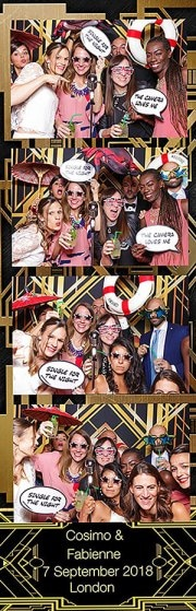Art deco style photo booth strips