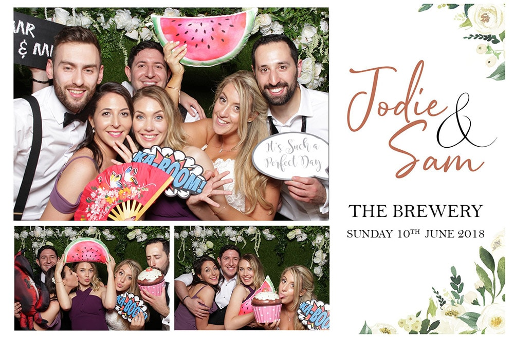 Wedding photo booth at London venue Instant postcard sized prints with bespoke graphics.